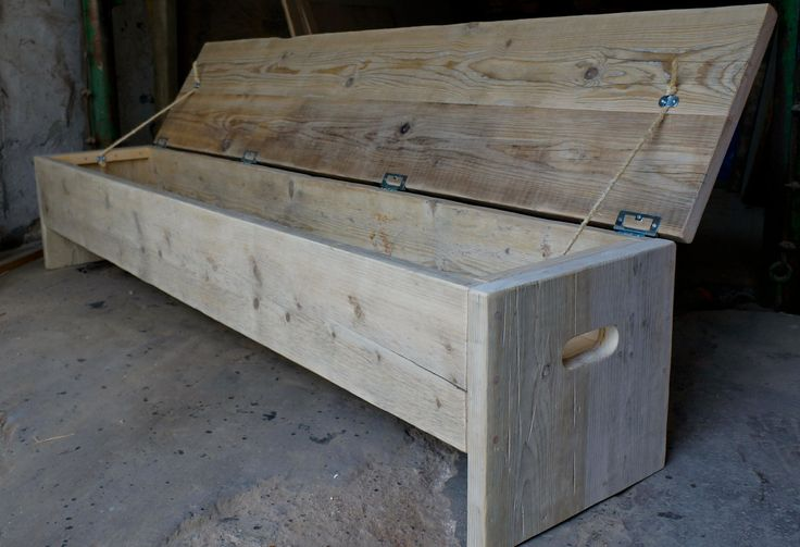 The original storage box and bench. Rustic but industrial or