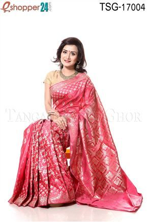 Kuchi Katan Saree - TSG - 17004 - Buy tangail saree from online with best price and best quality and get delivery Bangladesh and worldwide.