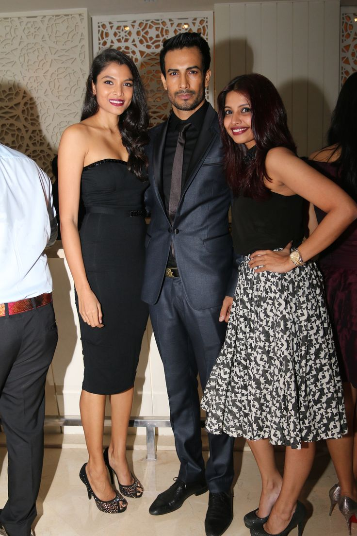 Hamangi Parte, Asif Azim and friend at Bare in Black Launch.