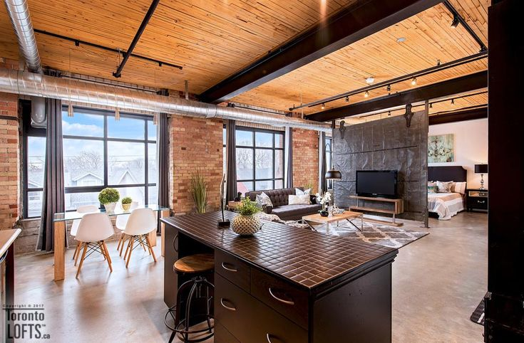 Broadview Lofts-68 Broadview Ave #316   Rare offering - 1100+ sf 1 bedroom + den authentic brick & beam loft with 10.5 ft high factory wood ceilings, exposed brick walls, large original windows & concrete floors.   More info here: torontolofts.ca/broadview-lofts-lofts-for-sale/68-broadview-ave-316