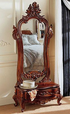 Victorian-Dressing-Mirror-Hand-carved-in-Solid-Mahogany