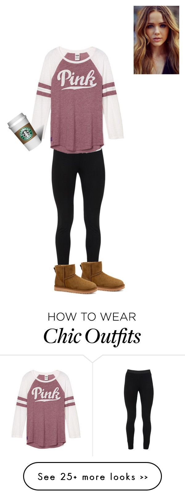 """""""starbucks"""" by style-with-ines on Polyvore featuring Peace of Cloth and UGG Australia"""