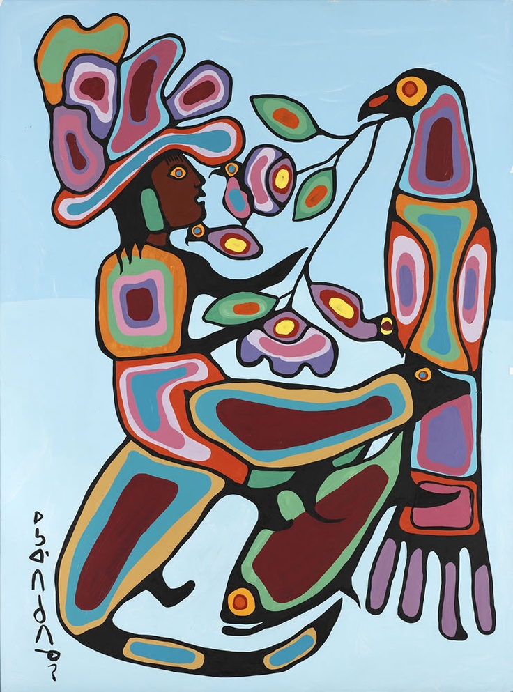 Norval Morrisseau. Canada (1932 - 2007). Bearman, c. 1970. Acrylic on canvas. 181.1 x 141 cm. Gift of Nicholas J. Pustina, 1986, 986.226.23. Lent by: Glenbow Museum, Calgary. Only in Canada at the Winnipeg Art Gallery, May 11 - Aug 11, 2013.