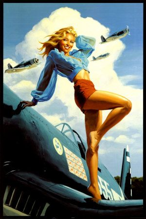 Vintage Pin Up Girl Greg Hildebrandt Poster #PinUp: