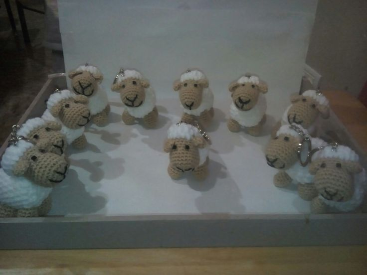 Llaveros ovejitas