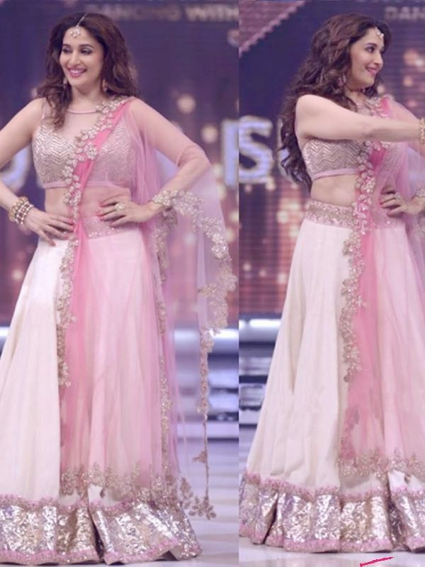 Pastel Pink Color Georgette Lehenga With Brocade Blouse http://www.fabefy.com/pastel-pink-color-georgette-lehenga-with-brocade-blouse.html