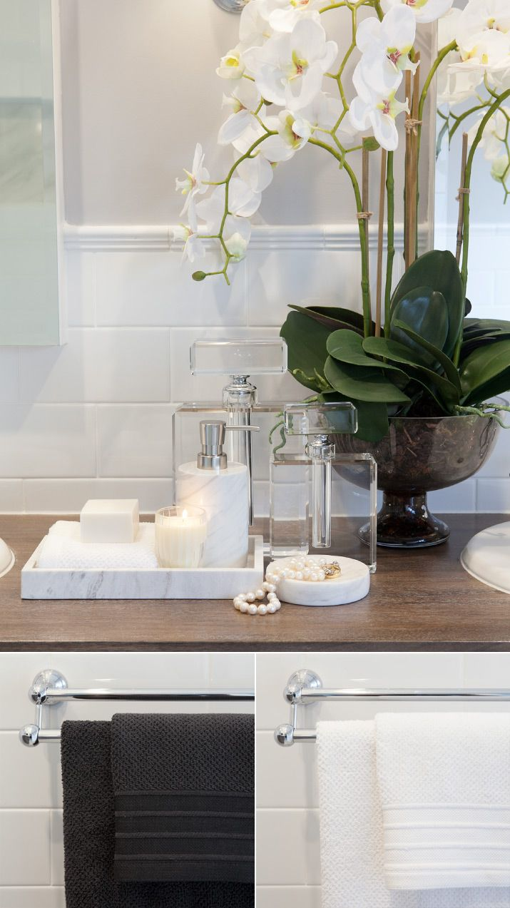 Best 20 bathroom staging ideas on pinterest bathroom - How to decorate a bathroom counter ...