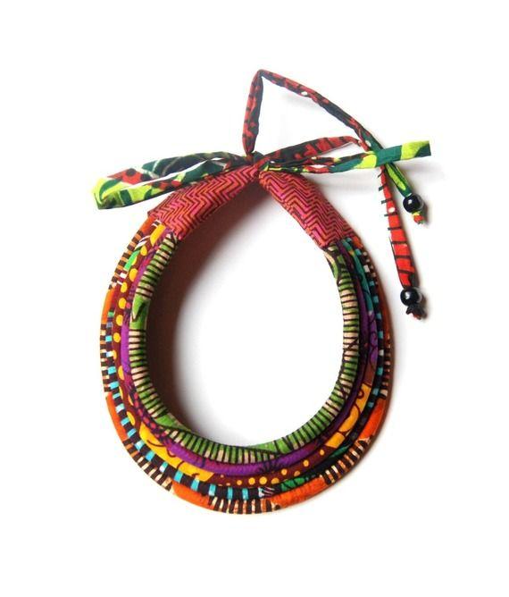 Collier Massai en wax 5rangs Kumbhaka : Collier par kumbhaka
