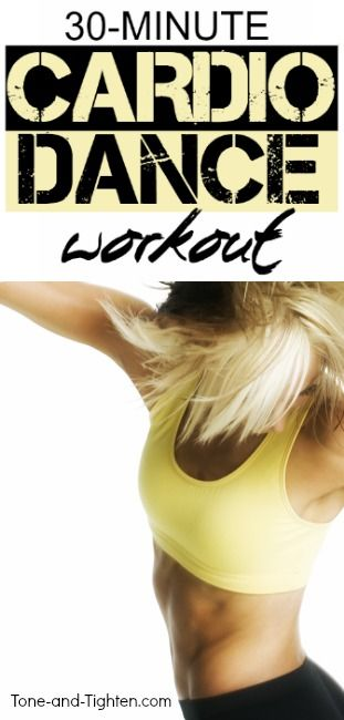 30-minute cardio dance workout at home to tone and tighten your backside!   Tone-and-Tighten.com