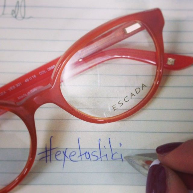 Το διάβασμα είναι πιο ξεκούραστο με #γυαλιά, παρά με φακούς επαφής  #glasses #sunglasses #frames #escada #opticametaxas #athens #exetastiki #tipoftheday #pickoftheday #eyewear #vision #style #fashion #orangeisthenewblack