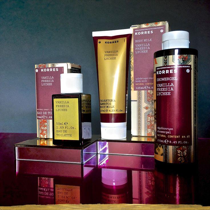 Vanilla / Freesia / Lychee #korres #fragrance