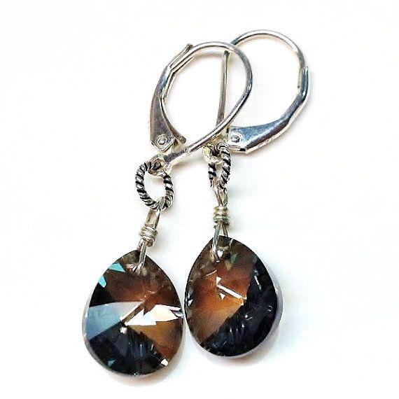 Swarovski 925 sterling silver earrings by Emmalishop