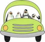 Four Happy Penguins - Free Online Reading Comprehension Worksheet and Questions for 2nd and 3rd Grade - on desktop, tablet and mobile phone browsers