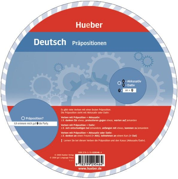 """Wheel – """"German - Prepositions"""" by HUEBER VERLAG 