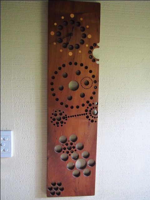 Timber clock by Brian Birtwell