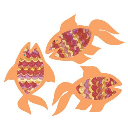 Goldfish are a traditional Chinese symbol of luck and good fortune. Create a whole school of these pretty Good-Luck Goldfish and just wait for the luck to start rolling in!  Photo courtesy of Family Fun Magazine