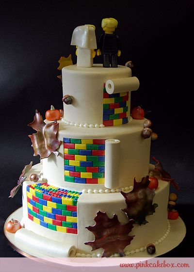 Lego Fall Themed Wedding Cake Cakes