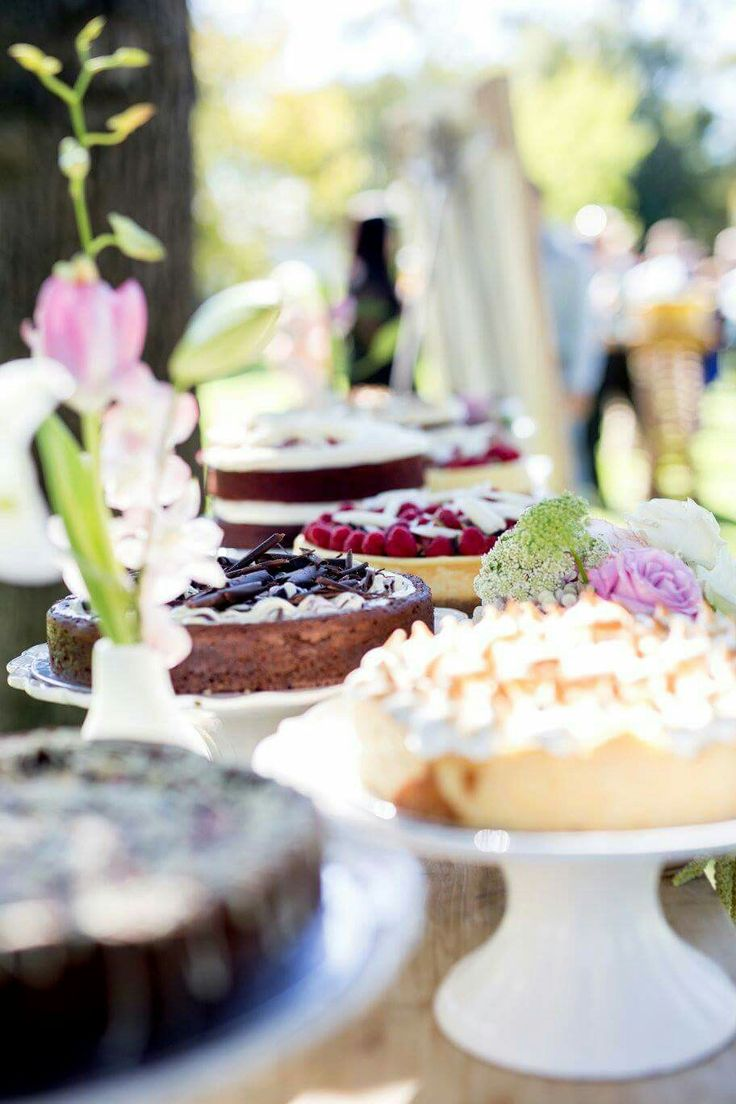 Why not have a cake table for your guests to enjoy #weddings #cake www.ido4u.co.za