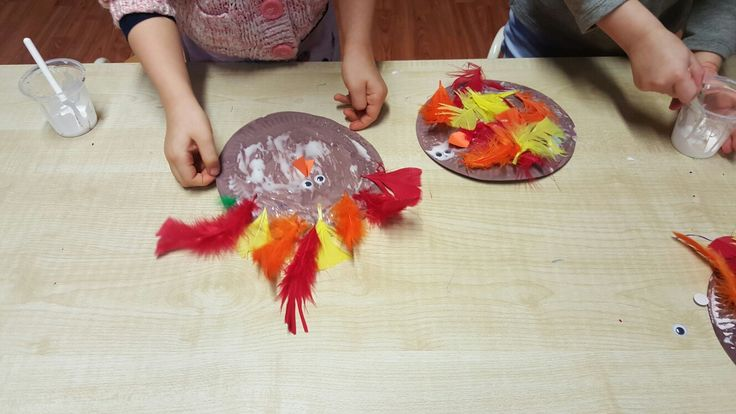 Paper plate turkey thanksgiving