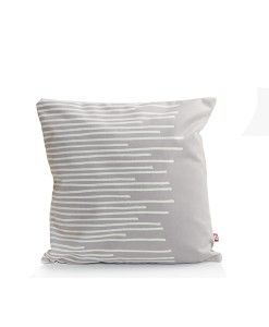 www.popsiclestuff.nl | pillow MAKE  MY DAY, pattern Stripes, grey and white