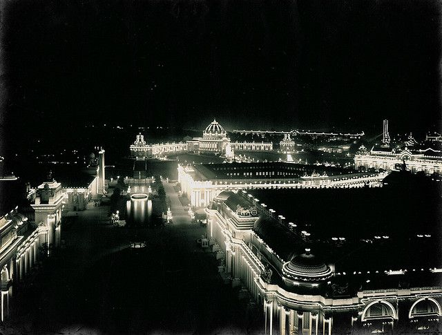 A night view of the 1904 St. Louis World's Fair Grounds at Forest Park. #WUSTL's front yard