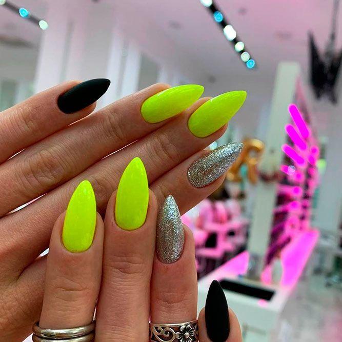 35 Cool Summer Nail Designs Naildesignsjournal Com Almond Nail Art Nail Designs Summer Neon Nail Designs