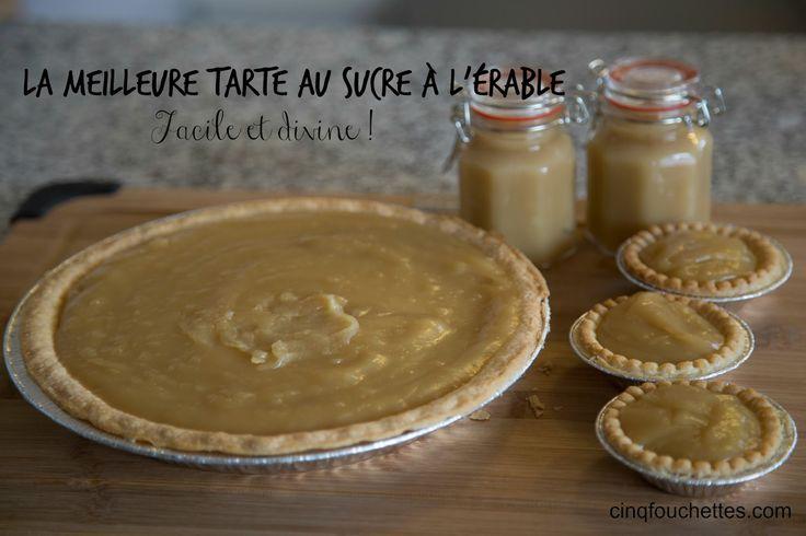 Cinq Fourchettes etc.: La meilleure tarte au sucre à l'érable : facile et divine! (VIDÉO)