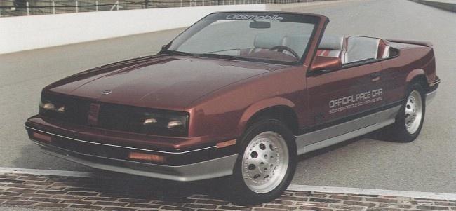 1985 Oldsmobile Cutlass Calais Indy 500 Pace Car