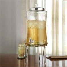 Diamond Glass Beverage Dispenser with Metal Stand