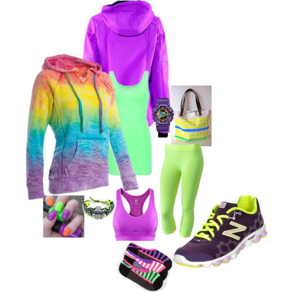 neon workout - Polyvore
