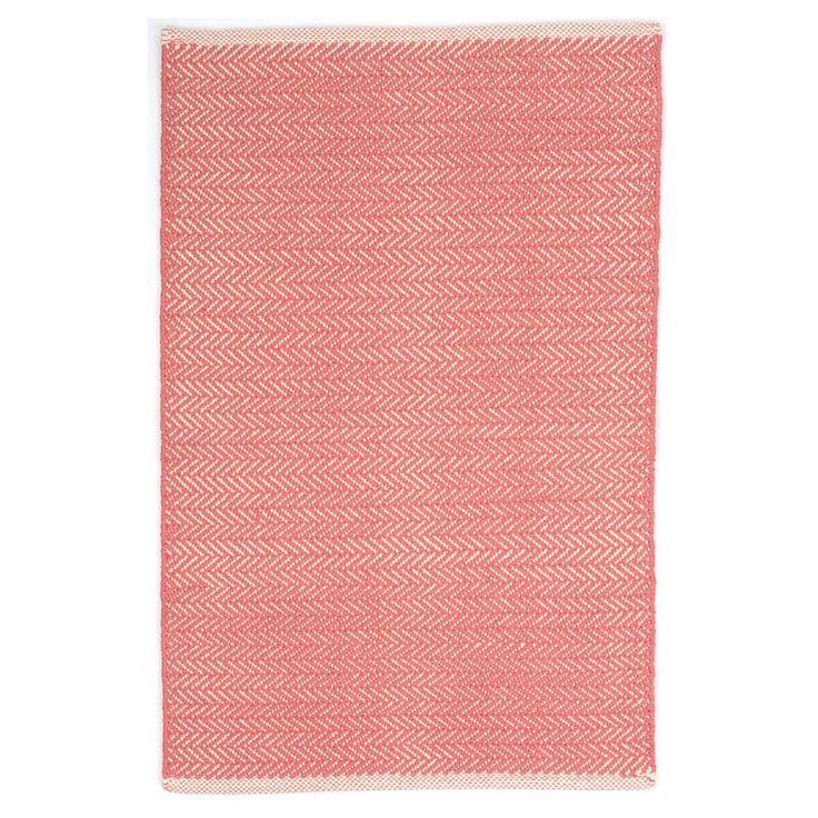 Dash & Albert Teppich Baumwolle Herringbone Coral, 42,00 €