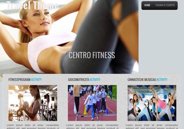 Sito Centro Fitness home page