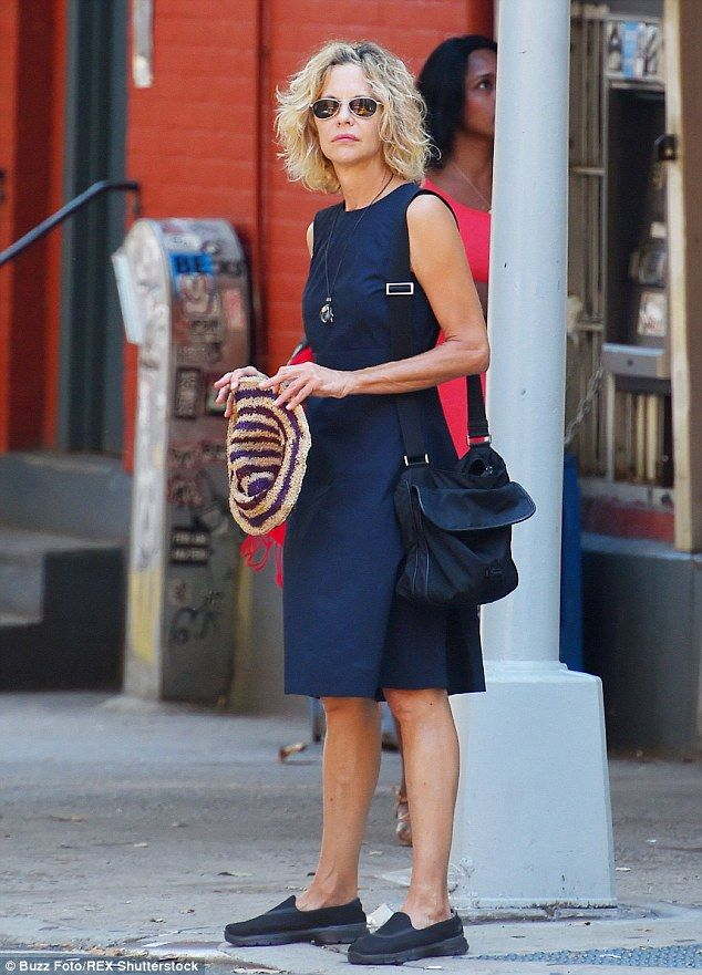 Casual chic: Meg Ryan was dressed perfectly for the summertime as she was spotted out and about in New York City on Tuesday