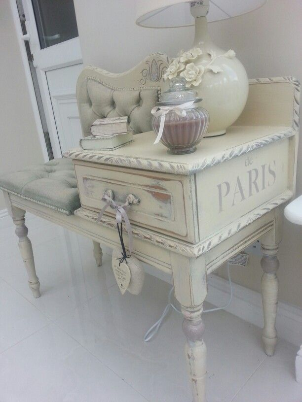 Telephone Table #Christine Doyle @ Shabby Nua Https://www.facebook.