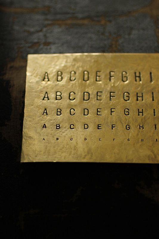 Brass Plate - Stamp Sample