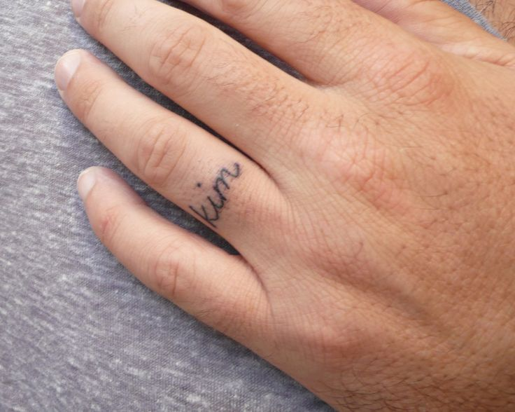 Simple Wedding Band Tattoo Further Ring Finger Besides