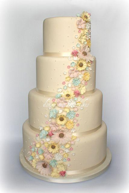 Spring Wedding FlowersSpring Flower, Pastel Wedding, Spring Wedding Cake, Spring Weddings, Cake Ideas, Cake Decor, Spring Wedding Flower, Cake Cake, Flower Cake