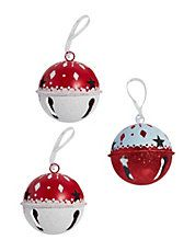 Three-Piece Jingle Bells Ornaments