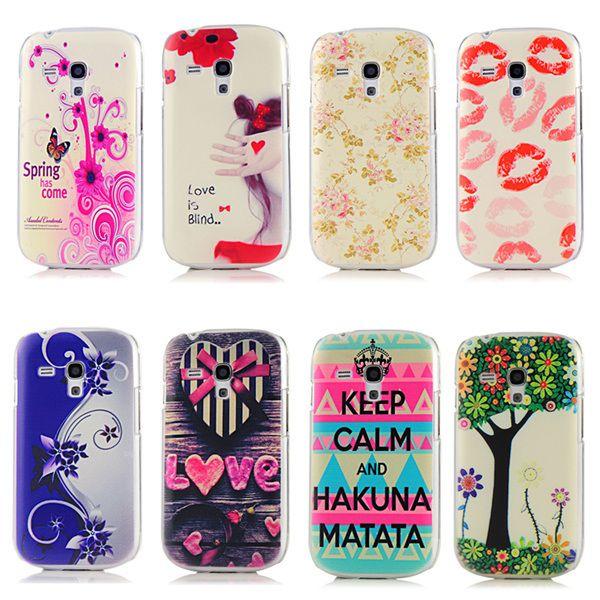 Coloful Maľované Láska Patterns Hard PC Ochranné telefón puzdro pre Samsung Galaxy S 3 S3 SIII Mini i8190 8190 Ultra Thin Back Cover
