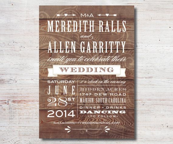 vintage western rustic wedding invitation printable diy wedding invitation outdoor wedding on etsy 1500 - Outdoor Wedding Invitations