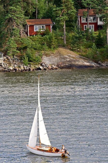 ☆ Sweden.... a week at sea on the family's sail boat around the Archipelago Islands of Sweden.