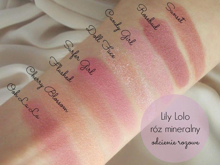 KosmetykoveLove: Lily Lolo mineralny róż do policzków - recenzja i swatche