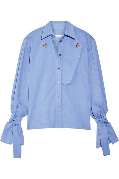 Rejina Pyo | Billie cotton-chambray shirt | NET-A-PORTER.COM