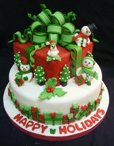 Happy Holidays cake by My_Edible_Art {The Cake Shop by Mila Fontana}, via Flickr