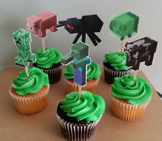 Best 25+ Minecraft cupcake toppers ideas on Pinterest ...