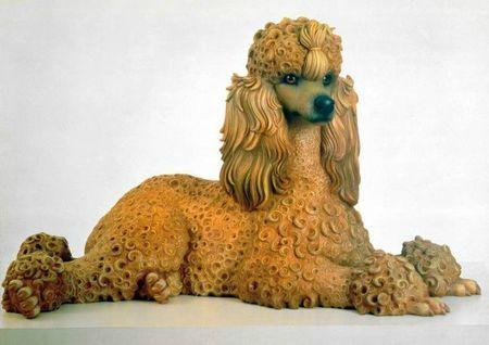 (Jeff Koons, Caniche, 1991, Museu Colecção Berardo, Lisbonne)