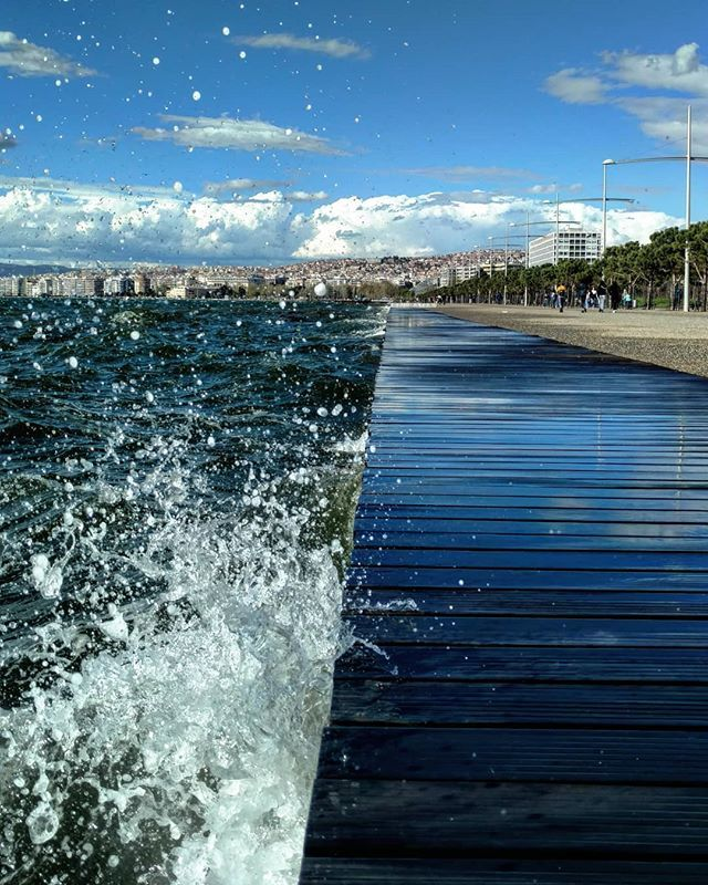 Those who wish to sing always find a song #skg #thessaloniki #sea #training #sailing #wind #spring #instagood #igdaily #ig_greece #salonica #waves #travelgram #travel #urban