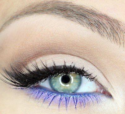 2 colour eye liner #eyeliner - black - indigo - cat eye - winged - mascara match