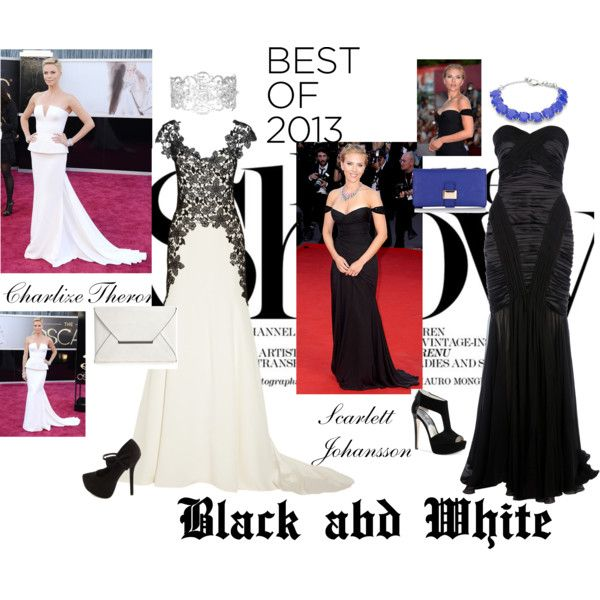 Black and White by malirybka1989 on Polyvore featuring Lela Rose, Zuhair Murad, Michael Kors, Charlotte Russe, BCBGMAXAZRIA, Warehouse, FOSSIL, Kenneth Jay Lane, SANCHEZ and Versace