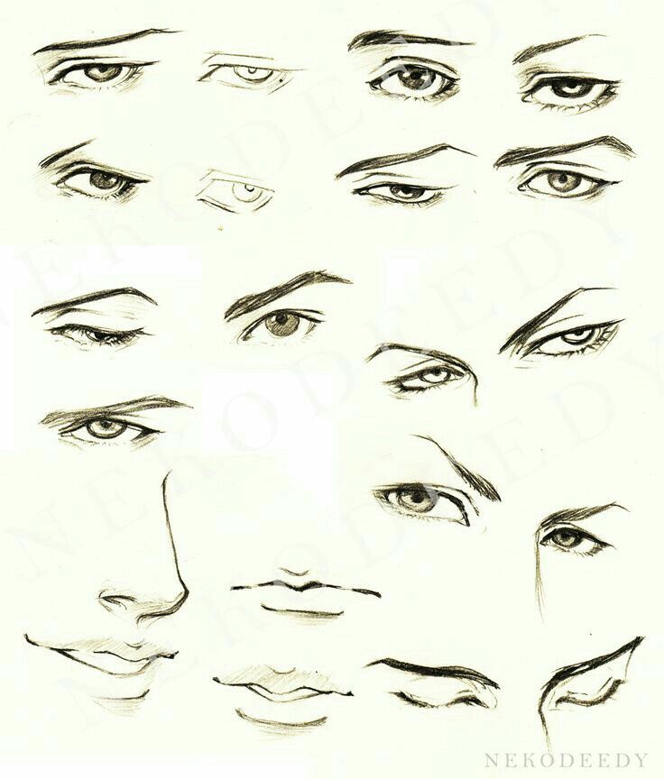 anime male eyes - 736×864